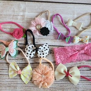 Other - Baby Girl Lot of Hairbows on Nylon
